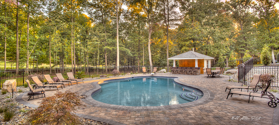 Why is landscaping important in pool design rhine pools for Pool design maryland